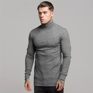 Men's Sweater Autumn And Winter Fashion Turtleneck Sweater Long-sleeved T-shirt Men's Sports Shirt Fitness Leisure Slim Wholesale