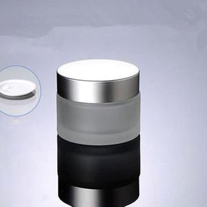 50г матированного стекла Jar Empty крем Баночки Косметические контейнеры Упаковка горшок с крышкой для рук крем тушь для ресниц Контейнер Бесплатная доставка