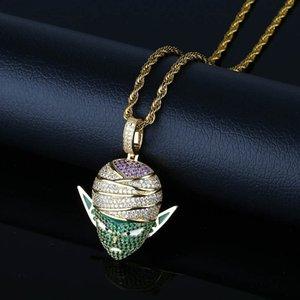 Мужчины классический Dragon Ball стиль кулон ожерелье с теннисной цепочкой золото серебро цвет мужской хип хоп ожерелье ювелирные изделия для мальчика подарок
