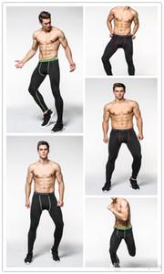 Collants de compression pour hommes Pantalons 3/4 Sports Tight Fitness Running Basketball Pantalon Jogging Leggings Slim Fit Running Pantalon Running Pantalon Spor