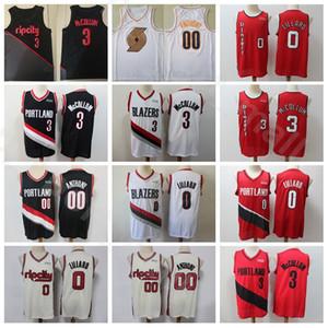 Männer Damian Lillard Jersey CJ McCollum Clyde Drexler Carmelo Anthony Basketball Ausgabe verdient City Alle genähtes Rot Schwarz Weiß Hoch