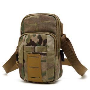 Çıkarılabilir omuz askısı ile 500D Cordura Naylon Taktik Mølle sapan omuz Gadget bel Kılıfı su geçirmez göğüs torbası