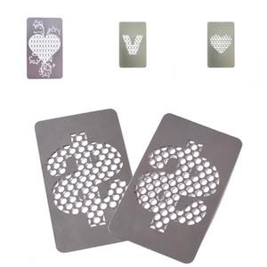 Tarjeta de bolsillo amoladoras de metal que ahueca la Usd amante Corazón V patrón inicial de la hierba de la trituradora Mini fumadores Grinder Fit humo Accesorio 3 99ds E1