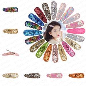 Ragazze Mermaid Paillettes Barrettes svegli del clip Colorful Snap tornante arcobaleno glitter BB capelli dei capretti bambini Frangia Hairclip dei capelli accessori E4704