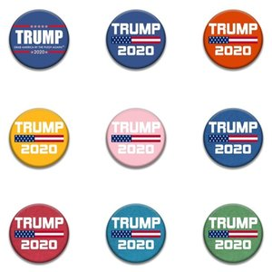 fashion 9style Trump Commemorative Badge brooches pins 2020 American Election Supplies Trump Badge US Flag BroochesT2I5962