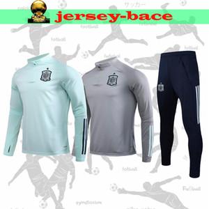 2020 스페인 성인 재킷 운동복 라모스 까마귀 축구 자켓 A.INIESTA 파브레가스 DIEGO ISCO 교육 정장 운동복