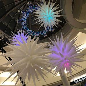 LED ışıkları ile kulüp parti dekorasyon yeni desgin için şişme yıldızlı şişme yıldız balon asılı dekoratif şişme üfleme stras