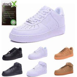 nike max air force 1 Flyknit hombres de los zapatos bajos de las mujeres de malla transpirable unisex 1 punto Euro mens para mujer diseñador zapatos