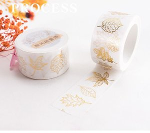 Chinese style autumn leaves gold stamping washi paper tape hand account tape decoration DIY hand account students stationery free shipping