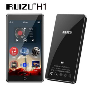 New Reproductor de MP4 RUIZU H1 pantalla táctil completa de 4,0 pulgadas con Bluetooth 5,0 Radio FM grabación E-book Video reproductor