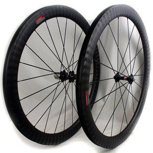 12K karbon fiber bisiklet yol tekerlekleri 50 mm 700C bazalt fren yüzeyi düğüm boru şekilli yolun bisiklet yarış tekerlek jant genişliği 25 mm mat