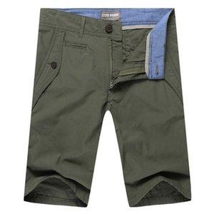 Summer 2020 Men Cotton Shorts Knee Length Short Pants Trousers High Quality Bermudas Plus Size