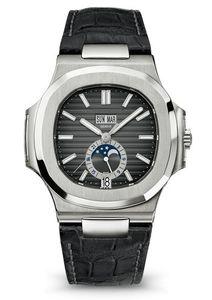 Novo Luxo mens Watch Men Automático Auto Vento relógios Mecânicos Relógio preto Masculino Reloj Hombre Nautilus Real couro do couro relógio de Pulso