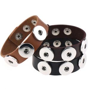 Высокое качество PU магнитные браслеты сменные 18 мм женские старинные DIY оснастки кнопка браслет-манжета браслеты-манжеты нуса стиль ювелирные изделия