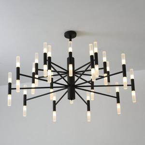 Moderne Modedesigner Black Gold LED Deckenkunst Deco Suspendierte Kronleuchter Licht Lampe Für Küche Wohnzimmer Loft Schlafzimmer