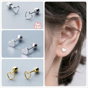 925 Sterlingsilber-Ohrringe für Frauen Hochzeit Verlobungs-Party-Herz-Ohrring-Mädchen hohle Bolzen Minimalism Aretes R5