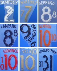 18 19 MLS-Druck Fußballsets IBRAHIMOVIC VELA GERRARD LAFC stempelt Fußballaufkleber DEMPSEY LAMPARD LA Galaxy beeindruckte Schriftzüge