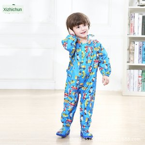 Hooded kid poncho kid Raincoat Boy Cloak Body clothes body clothes baby jumpsuit girl pupil
