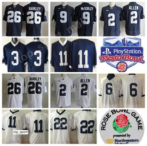 PSU College Jerseys Penn State Nittany Lions Football Barkley McSorley 1 Paterno Lynch 2 Allen 88 Gesicki Fiesta Bowl Rose Bowl