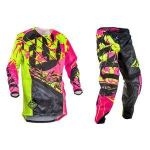 Fly Fish Jersey & Pants Combo Motocross MX Racing Suit Dirt Bike ATV Riding Gear Set Thin Cycling Racewear S-XXL Dropshipping
