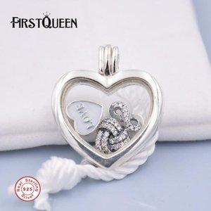 FirstQueen Floating collana marca 100% di argento galleggiante Locket Adatto il pendente della collana 925 Sterling Silver Fine Jewelry