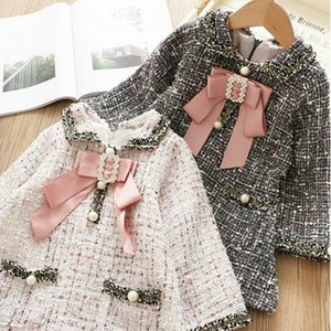 Kid Baby Girl Plaid Coat Tutu Dress Party Autumn Winter Clothes Outerwear Top