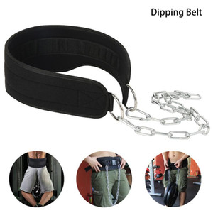 Gym Dumbbells Weight Lifting Belt with Chain Dipping Belt Strength Power Exercise Barbell Fitness Bodybuilding Gym