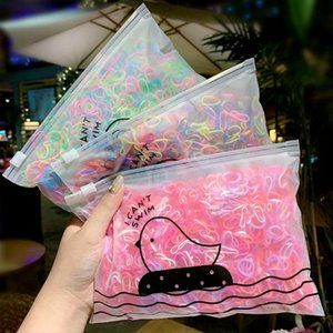 DHL or fedex 100 Packs Girls Colorful Small Disposable Rubber Bands For Ponytail Elastic Hair Bands Fashion Hair Accessories