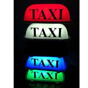 Taxi Top Light / Nuevo LED Roof Taxi Sign 12V con base magnética Verde / rojo / azul / blanco opcional