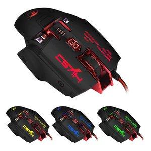 HXSJ X200 Wired Macro Meccaniche definire 7 tasti programmabili 4000 DPI Max regolabile Mouse Da Gioco
