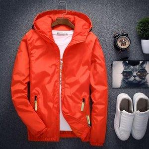 Velocidade pedestrianismo Moda Jacket Men Primavera Outono Brasão Sólidos Masculino Fora Jacket Plus Size M -7xl Casual Jaqueta Masculina Harajuku