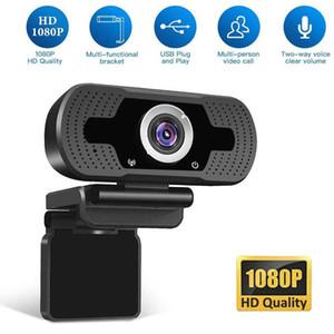 perakende kutusu ile Gürültü Azaltma Mikrofon ile Bilgisayar Dizüstü 2MP İleri Teknoloji Video Çağrı Webcam Kamera USB HD 1080P Webcam