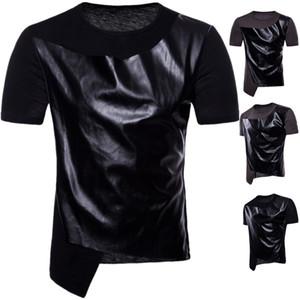 رجل مصمم T Shitrs الإملائي جلدية بارد س الرقبة قصيرة الأكمام الهيب هوب نمط صيف جديد قمصان الموضة للرجال
