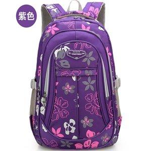 Mädchen Jungen Kursteilnehmer-Schule-Rucksack Große Kapazität wasserdichter Wear-Resistant Schoolbag Durable Blumendruck Primary School Taschen