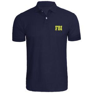 Mens do agente do FBI Federal do polo bordadas