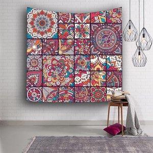153 * 130 centímetros de poliéster Tapestry Flor Imprimir Yoga Mat Picnic Toalha Impressão Tapeçaria Hanging Wall Tapestry Home Decor 8 cores DHF458