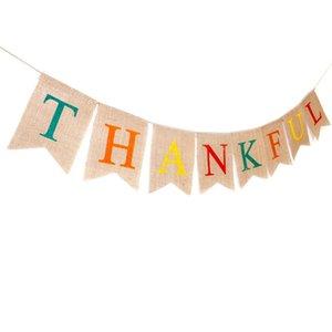 День благодарения Спасибо Аксессуары Party Wedding Banner Бантинг Фото Опора Garland Баннер Свадьба Обручальное