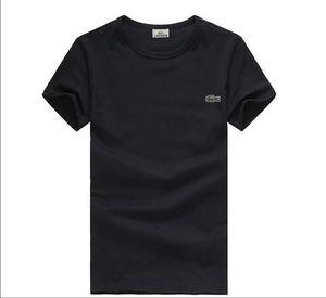 2019 neue hochwertige Baumwolle Krokodilleder O-Kragen Kurzarm T-Shirt Marke Deluxes Designer Herren T-Shirt Freizeit Stil Sport Herren