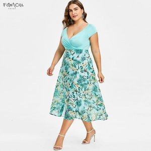 Women Midi Dresses V Neck Wrap Chiffon Short Sleeve Plus Size Prom Short Sleeve Party Club Buttom Dress Evening Party Club Buttom