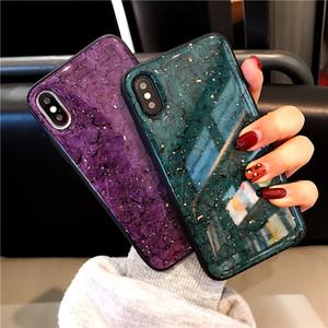 Oro Paillettes marmo Custodia Morbida Per Samsung Galaxy A50 A10S A20 A30 A40S A60 A70 A80 M10 M20 M30 A8 Più A6 più a7 2018 A9s copertura