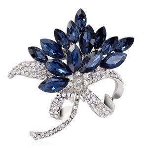 زهرة بروش العصرية مجوهرات حجر الراين دبابيس ساحر النساء كريستال كبيرة للولائم الديكور الأزياء والمجوهرات