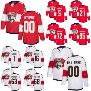 Florida Panthers Jerseys 16 Aleksander Barkov 1 Roberto Luongo 5 Aaron Ekblad 72 Sergei Bobrovsky Personalizado Cualquier Número Cualquier nombre Hockey Jersey