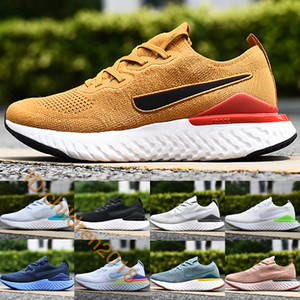 2019 Epic Reacct Knit 2.0 Hombres Mujeres Running Zapatillas Club Gold Aviator Gris Pixel Azul Void Pure Platinum Zapatillas al aire libre Tamaño 36-45
