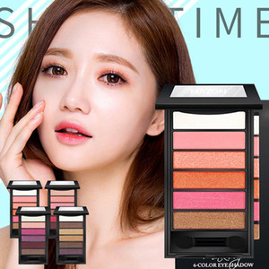 New 6 Color Makeup Eyeshadow Pallete Pigmented Matte Glitter EyeShadow Diamond Shimmer Eye Primer Luminous Eye Shadow Women Gift