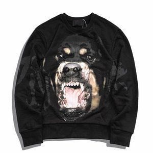 Hot Selling Mens Designer Hoodies Sweatshirts 19FW Fashion Men Women Dog Pattern Printed Hoodies Hip Hop All-match Sweatshirts Size S-XL