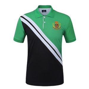 Повседневная мужская рубашка поло Спортивная сплошная футболка для мужчин с коротким рукавом для гольфа Футболки с короткими рукавами Футболки для тренировок
