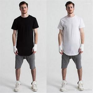 T-shirts d'été Tendance Pure Color Circulaire Arc Coton T-shirts d'été Hauts causales hommes Vêtements pour hommes Designer Fashion