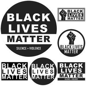 مبيعات ساخنة حياة أسود يهم حياة جدار لاصق أسود يهم موكب ملصقات السيارات المسافة الاجتماعية الأرضيات ملصقات T9I00423