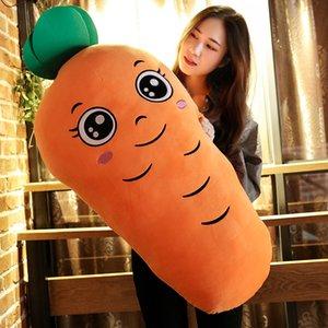 Cojín Dorimytrader Kawaii suave zanahoria de juguete de felpa relleno Gran Abrazo de dibujos animados de la siesta Almohada Almohada para el amante regalo 110cm 43inch