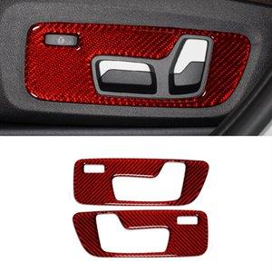 Carbon Fiber Регулировка сиденья Кнопки Украшение панели Наклейки обшивку автомобиля Стайлинг интерьера Для BMW G01 G02 X3 X4 2018-2020